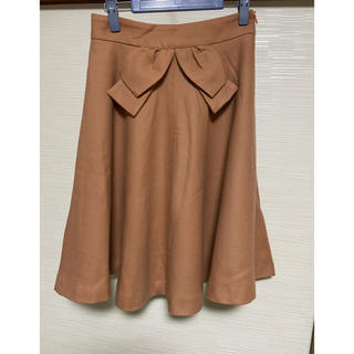アナトリエ(anatelier)のAnatelier  スカート  オレンジ(ひざ丈スカート)