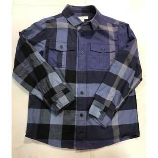 BURBERRY - バーバリー   チェックシャツ8Y 青