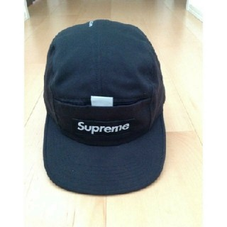Supreme - シュプリーム Reflective Tab Pocket cap 黒