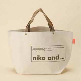 ニコアンド(niko and...)のニコアンド ロゴトートM ホワイト(トートバッグ)