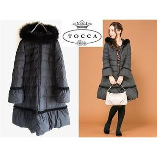 TOCCA - 美品 TOCCA フリル付 フォックスファー ダウンコート 定価58320円