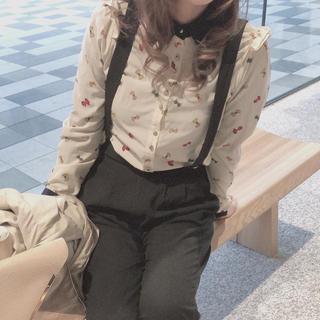 お値下げ 一度使用 韓国ファッション DODO GIRLS シャツ リボン(シャツ/ブラウス(長袖/七分))