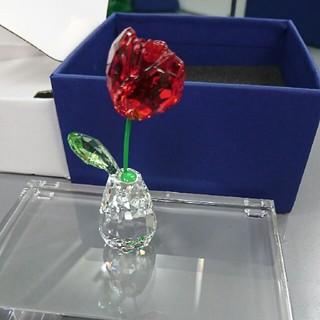 SWAROVSKI - スワロフスキー 薔薇 & クリスタル台座(s)