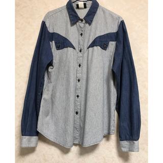 ロキエ(Lochie)の美品!古着 ヴィンテージ ストライプ 切り替えシャツ(シャツ)