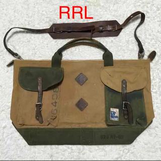 ダブルアールエル(RRL)のレア物 美品 RRL ラルフローレン ビンテージ ボストンバック(ボストンバッグ)