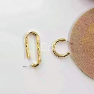 フリークスストア(FREAK'S STORE)のAsymmetry hook gold pierce No.229(ピアス)