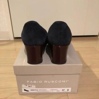 FABIO RUSCONI - ファビオルスコーニ 37 スウェードパンプス チャンキーヒール