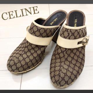 celine - 美品!CELINE セリーヌ 25.0 ロゴ サンダル
