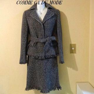 COMME CA DU MODE - COMME CA DU MODEコムサデモード♡ツイード 冬用スーツセットアップ