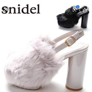 snidel - スナイデル ファーサボ サンダル