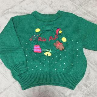mikihouse - クリスマスモチーフセーター