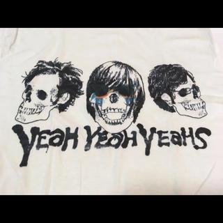 ☆Yeah Yeah Yeahs☆スカルTシャツ☆白☆Mサイズ☆ロックT☆us