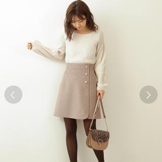PROPORTION BODY DRESSING - PROPORTION BODY DRESSING ビジュー台形ミニスカート
