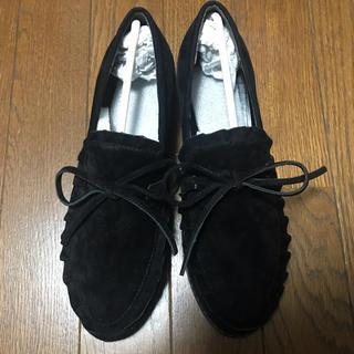 メリージェニー(merry jenny)のスエードフリルローファー [merry jenny](ローファー/革靴)
