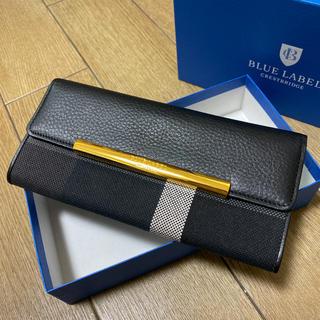 バーバリーブルーレーベル(BURBERRY BLUE LABEL)のクレストブリッジチェック ロングウォレット ブラック(財布)