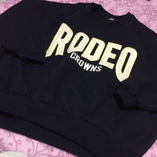 RODEO CROWNS - ロデオクラウンズ ビックシルエット トレーナー ネイビー