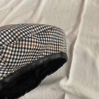 タータンチェック ベレー帽