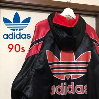 adidas - 90s adidas ベンチコート ロングコート L XL デサント製 デカロゴ