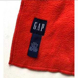 GAP - 【GAP】 フリースマフラー  オレンジ色 原色