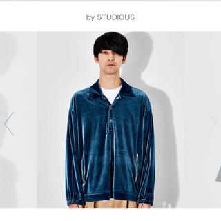 STUDIOUS - STUDIOUS ステュディオス ブライトベロアオーバーサイズハーフボタンシャツ