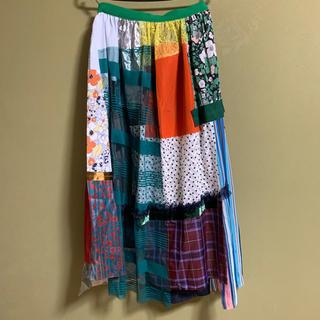 カラー(kolor)のkolor マルチカラー ロングスカート サイズ1 19ss(ロングスカート)