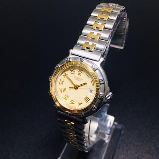 Hermes - 【美品 正規品】エルメス ダイバーウォッチ 腕時計 ゴールドコンビ 可動品 3針