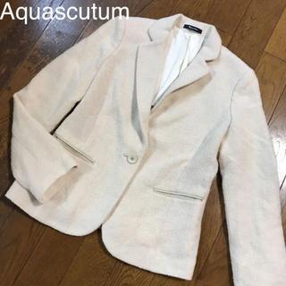 アクアスキュータム(AQUA SCUTUM)の美品♡アクアスキュータム♡テーラードジャケット ウールコート ショートコート(テーラードジャケット)