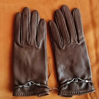 エルメス(Hermes)のエルメス 革手袋 茶色 サイズ6 未使用(手袋)