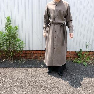 ヤエカ(YAECA)のunfil cotton flannel shirt dress アンフィル(ロングワンピース/マキシワンピース)