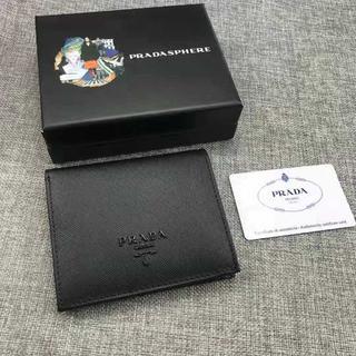 PRADA - プラダ PRADA 折財布/黒い