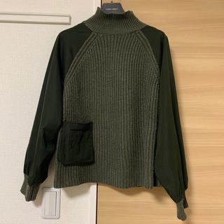 ZARA - ザラ 今期新作 1度着用 ポケット付きコントラストセーター Mサイズ