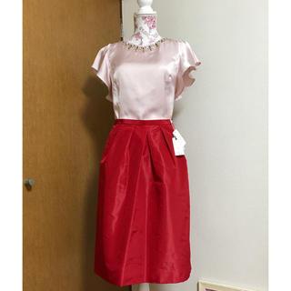 ケイタマルヤマ(KEITA MARUYAMA TOKYO PARIS)の新品 ケイタマルヤマ タックスカート(ひざ丈スカート)
