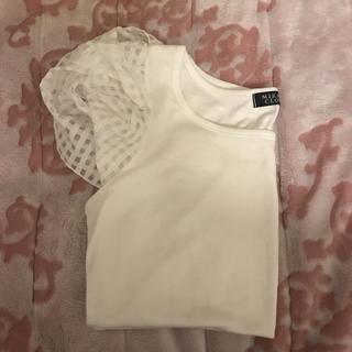 パフスリーブ 白Tシャツ(Tシャツ(半袖/袖なし))