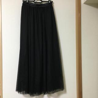 GU - GU チュールロングスカート M 黒 ブラック