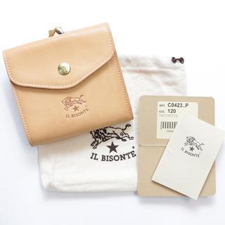 IL BISONTE - 新品 イルビゾンテ 財布 がま口 ヌメ 二つ折り 本革 Wホック ブランド 人気