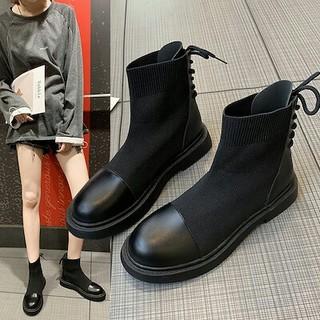 新作 美脚   ファッション ショートブーツ ソックスブーツ  靴(スニーカー)