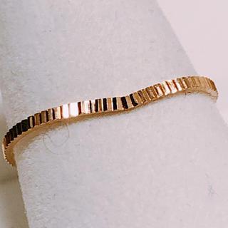k18 v字デザインのリング 13号(リング(指輪))