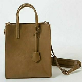 しまむら - 【新品未使用】プチプラのあや 縦長2wayバッグ 中茶色