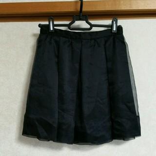 マーキュリーデュオ(MERCURYDUO)のオーガンジースカート(ミニスカート)