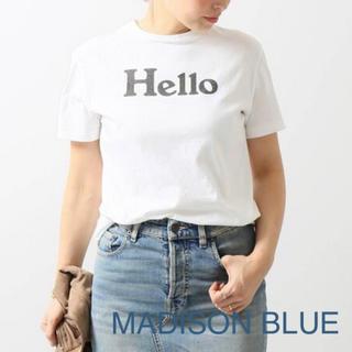MADISONBLUE - 【MADISON BLUE 】HELLO SHORT SLEEVE TEE/01