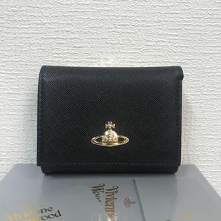 Vivienne Westwood - 【未使用】Vivienne Westwoodおしゃれ三つ折りがま口財布BIACK