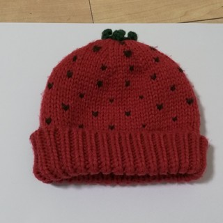 ビームス(BEAMS)のBEAMSmini いちごニット帽 キッズ(帽子)