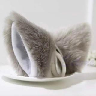 猫耳ヘアピン/グレー/ヘアアクセサリー