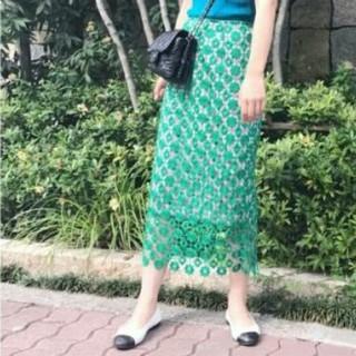 Lily Brown - lilybrown レース×チェックタイトスカート
