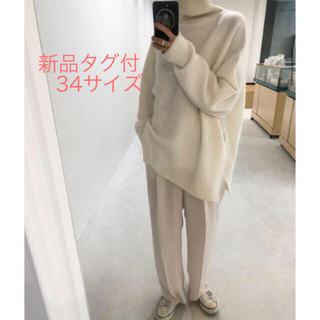 6(ROKU)ジョーゼットHIGH WAIST パンツ新品タグ付  34サイズ
