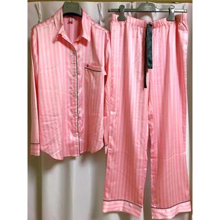 Victoria's Secret - VICTORIA'S SECRET ピンクボーダーパジャマ