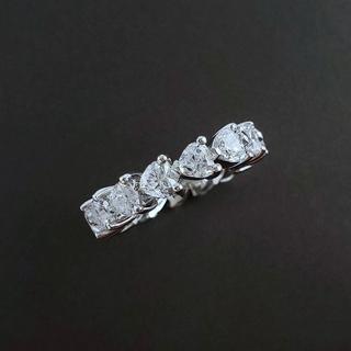 イセタン(伊勢丹)のSONA 合成ダイヤモンド   ハートシェイプ フルエタニティ リング  (リング(指輪))