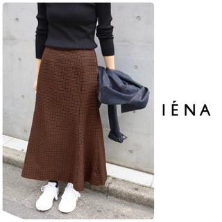 IENA - 【2017AW】 IENA ガンクラブパネルスカート チェック◆