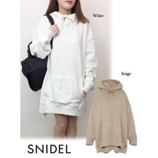 snidel - SNIDEL スウェットフーディワンピース