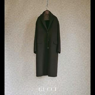 Gucci - 超高級 グッチ 一級品イタリア製チェスターコート セレカジ 豪華ビッグシルエット